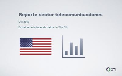 Estados Unidos: Q1-2018 sector telecomunicaciones