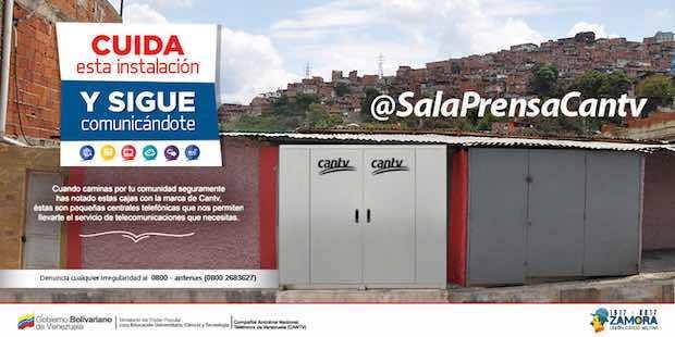 EN VENEZUELA: PIDEN A LOS CIUDADANOS CUIDAR LA INFRAESTRUCTURA DE TELECOMUNICACIONES