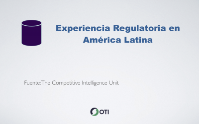 Experiencia regulatoria de mercado de contenidos audiovisuales en América Latina