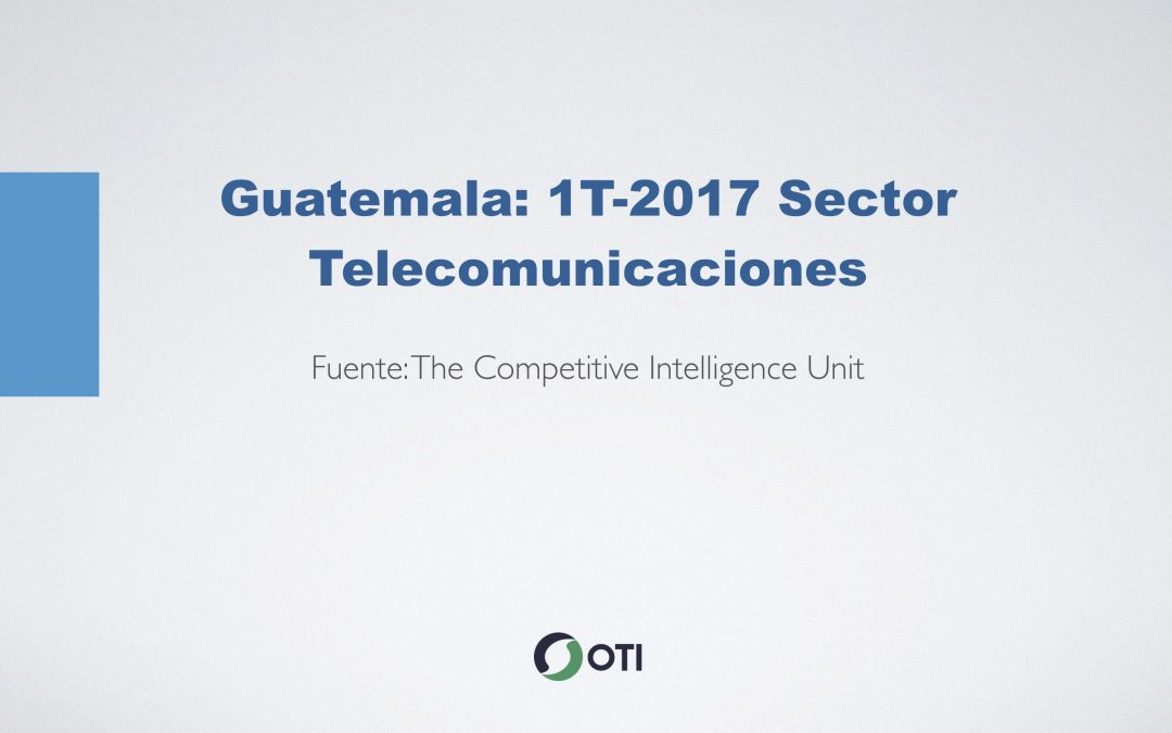 Video: Guatemala 1T-2017 Telecomunicaciones