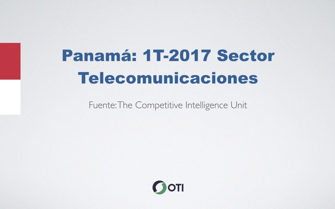 Video: Panamá 1T-2017 Telecomunicaciones
