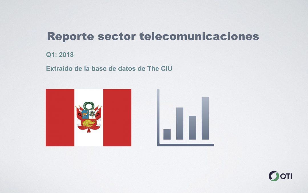 Perú: 1Q-2018 Sector Telecomunicaciones