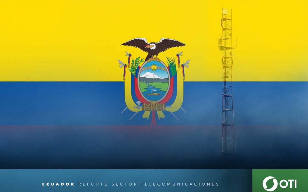 Ecuador: 1Q-20 Ingresos de telefonía fija, telefonía móvil y TV restringida